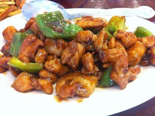 Lee's Kitchen - Shrimp & chicken with Peking sauce. Delicious ...