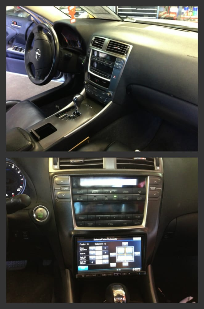 2010 lexus is250 top picture is the stock dash bottom. Black Bedroom Furniture Sets. Home Design Ideas