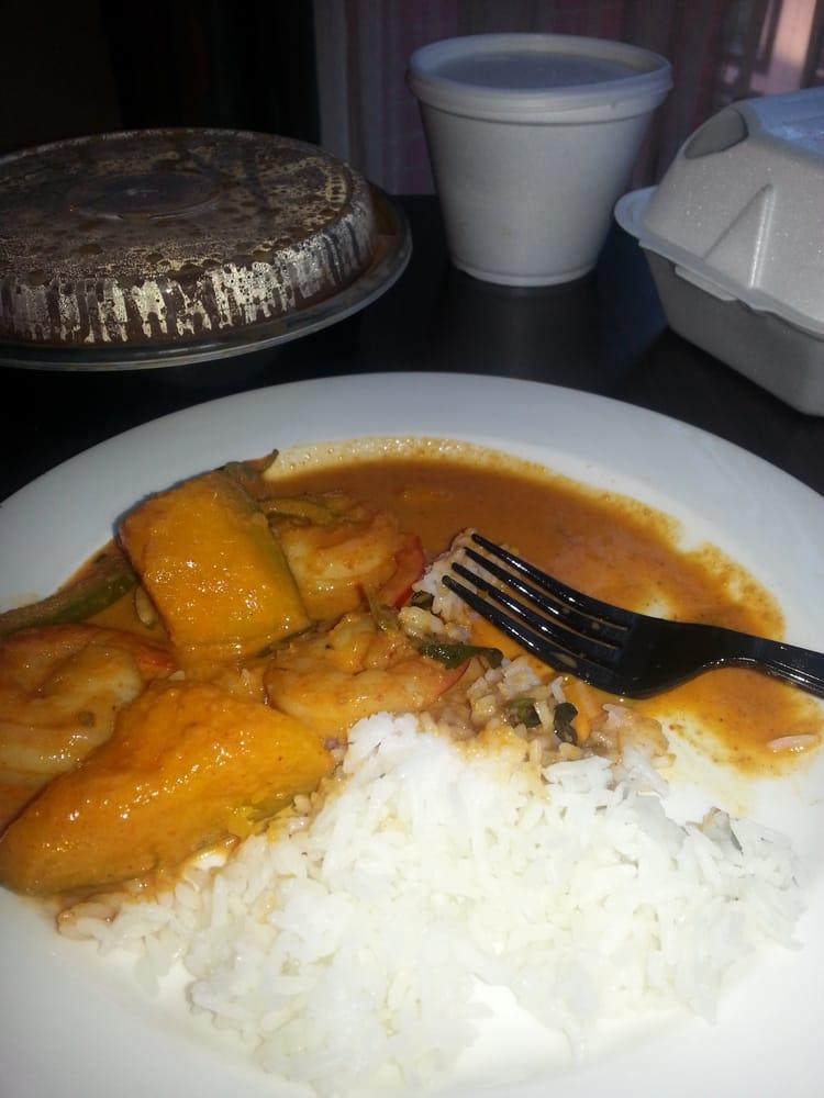 Pumpkin curry with shrimp yelp for Ayutthaya thai cuisine bar