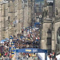 Fringe time on the Royal Mile.