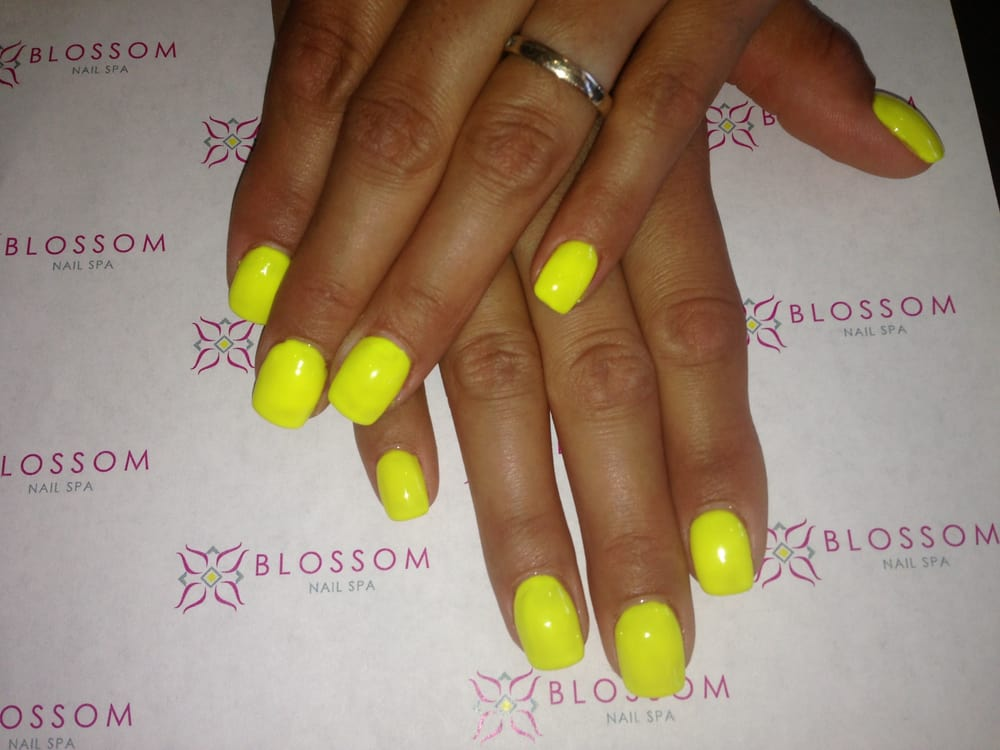 Blossom Nail Spa - San Jose, CA, United States. Neon Shellac Nails