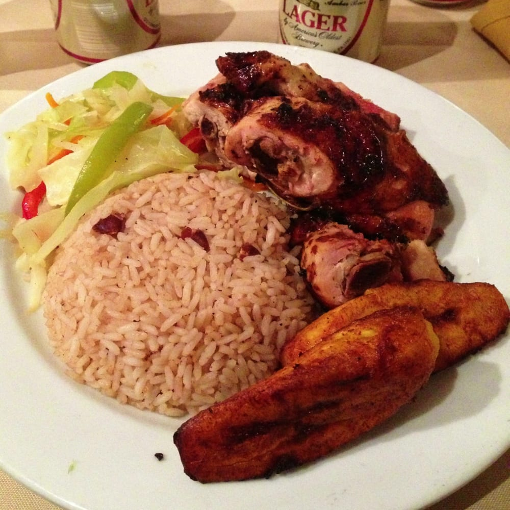 ... , PA, United States. Jamaican Jerk Chicken Thigh Quarters Platter