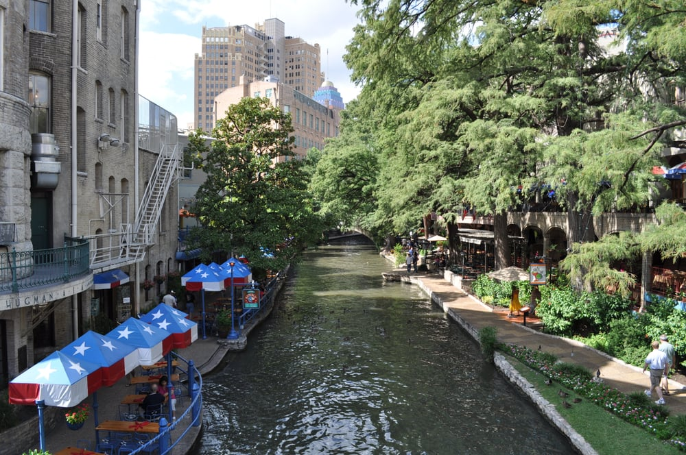 The San Antonio River Walk Downtown San Antonio Tx