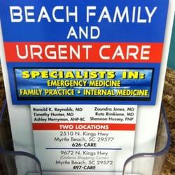 Beach Urgent Care Myrtle Beach Sc