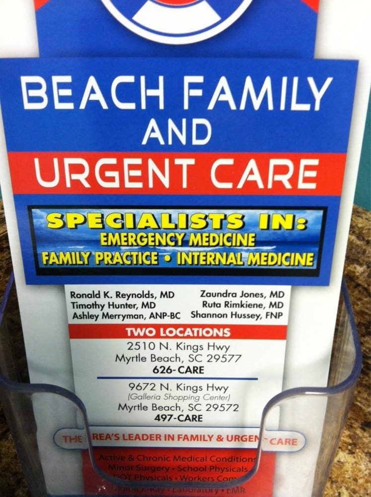 Doctors Care Near Myrtle Beach