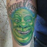 Nic Your Skin - Glendale, AZ, États-Unis. Shrek portrait by Nic Mann