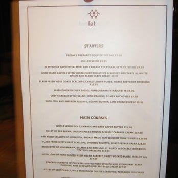 Two Fat Ladies at The Buttery - Snapshot of fall menu 2012 - Glasgow, Vereinigtes Königreich