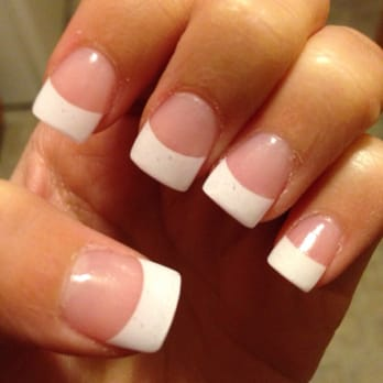 set of acrylic nails w...