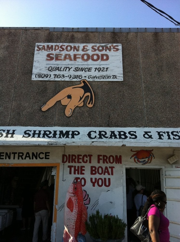 Sampson and sons seafood seafood markets pier 20 for Galveston fish market