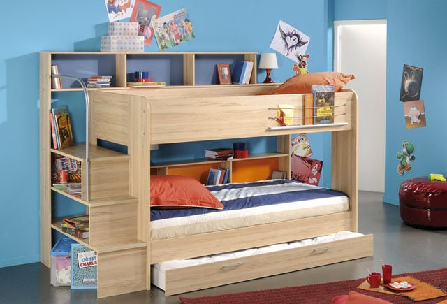 rainbow wood bunk beds 2