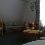 Doppelzimmer m. Schlafsofa Blick…