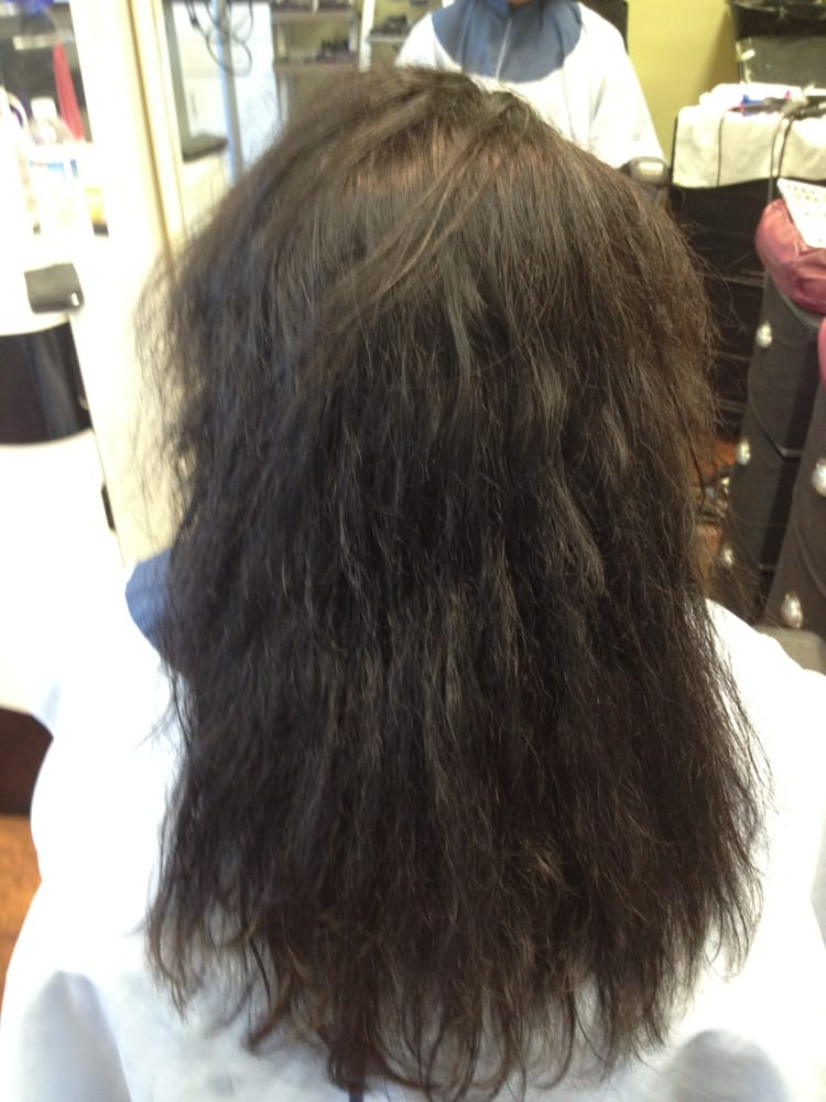 Before Milbon Liscio Japanese Straight Perm Yelp