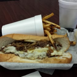 Spicy Philly with fries and a drink.  Runs about $10.