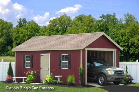 12x20 Classic Prefab Car Garage In Wood Buy This Garage