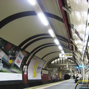 Southbound platform. The tiling and…