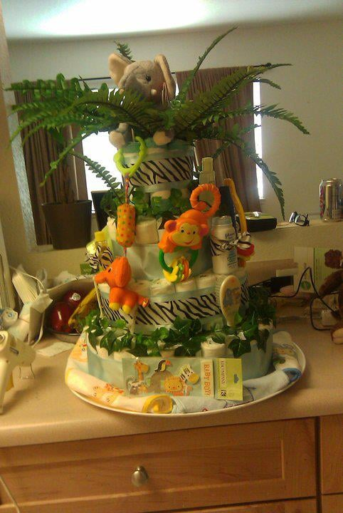 Safari Diaper Cake Safari Diaper Cake