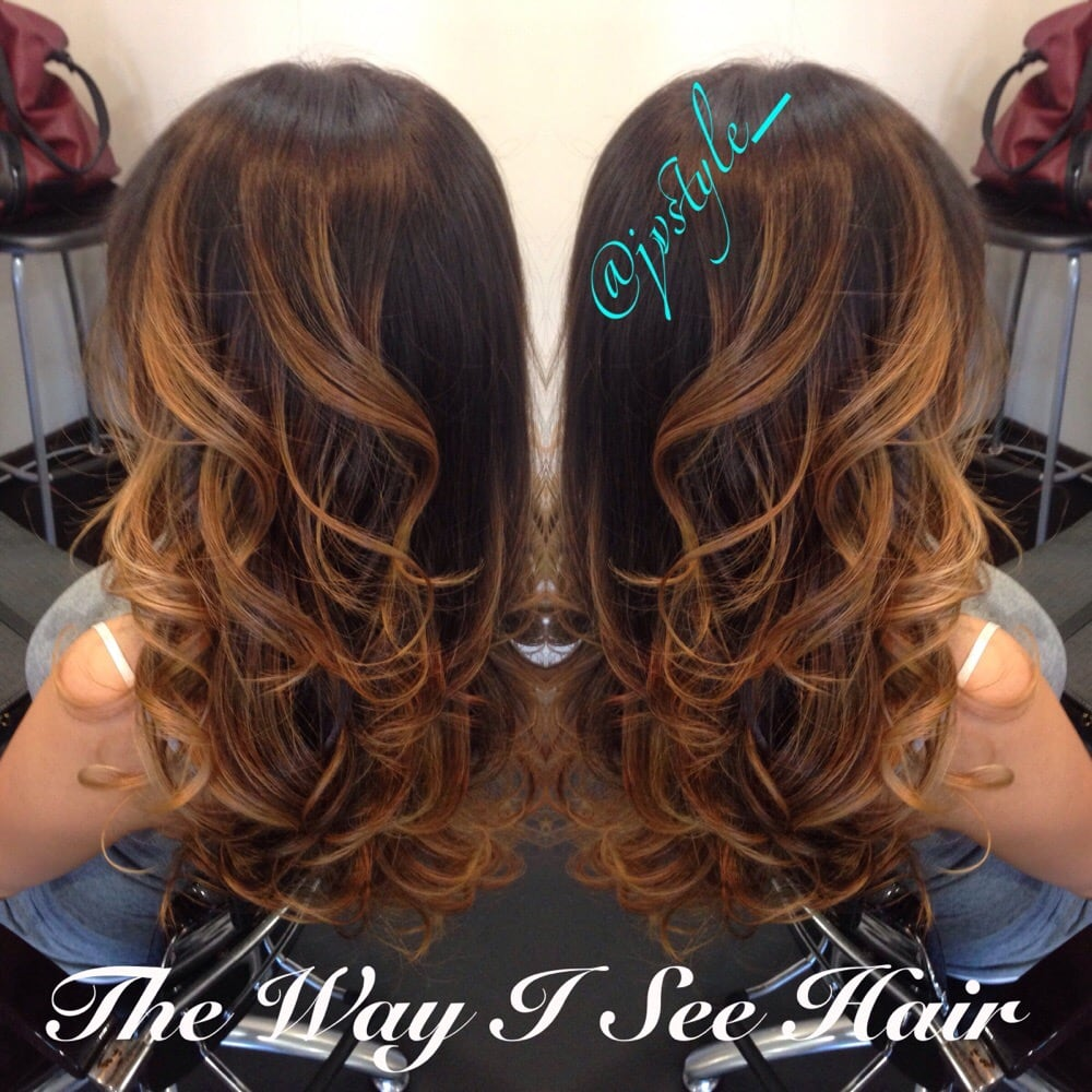 Honey natural ombre thewayiseehair yelp for Honey beauty salon