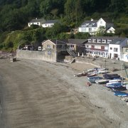 """Blick auf """"The Cawsand Bay Hotel"""""""