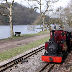 Steam Train by the lake