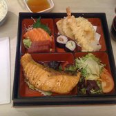 lunch time/brunch bento + miso+ rice = £12