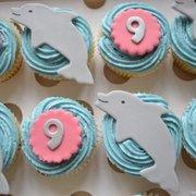 Dolphin Theme Cupcakes