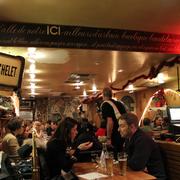 Le Tambour - Paris, France. Inside the restaurant