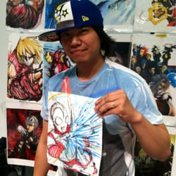 "Ninja-Con - Los Angeles, CA, États-Unis. ""Mar"" from Artist Alley hookin' up Ultraman!  Sweeet!"