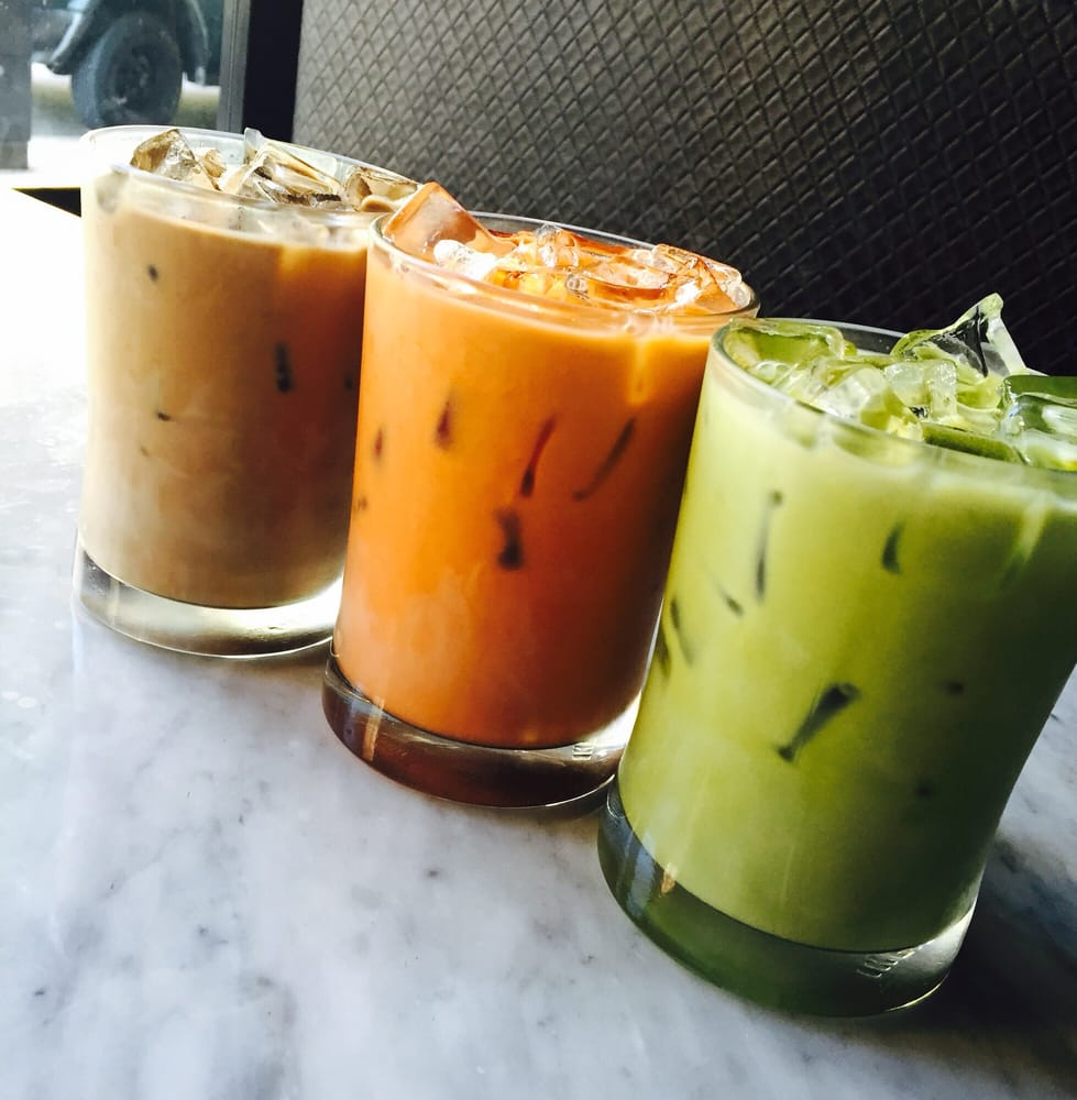 Thai Iced Coffee, Thai Iced Tea and Iced Green Tea Latte ...