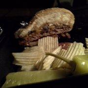 Founding Fathers Pub - Buffalo, NY, United States. Cajun burger with cheddar. $9.20