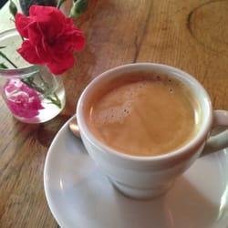 Americano coffee with milk