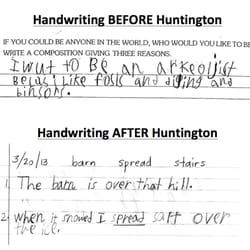 Huntington Learning Center - Bee Cave, TX, États-Unis. Writing sample from student before and after Huntington.