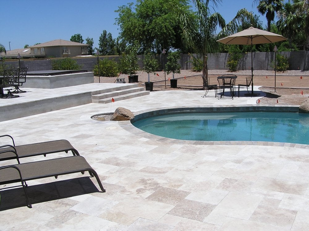 Travertine Pool Deck Pictures Images