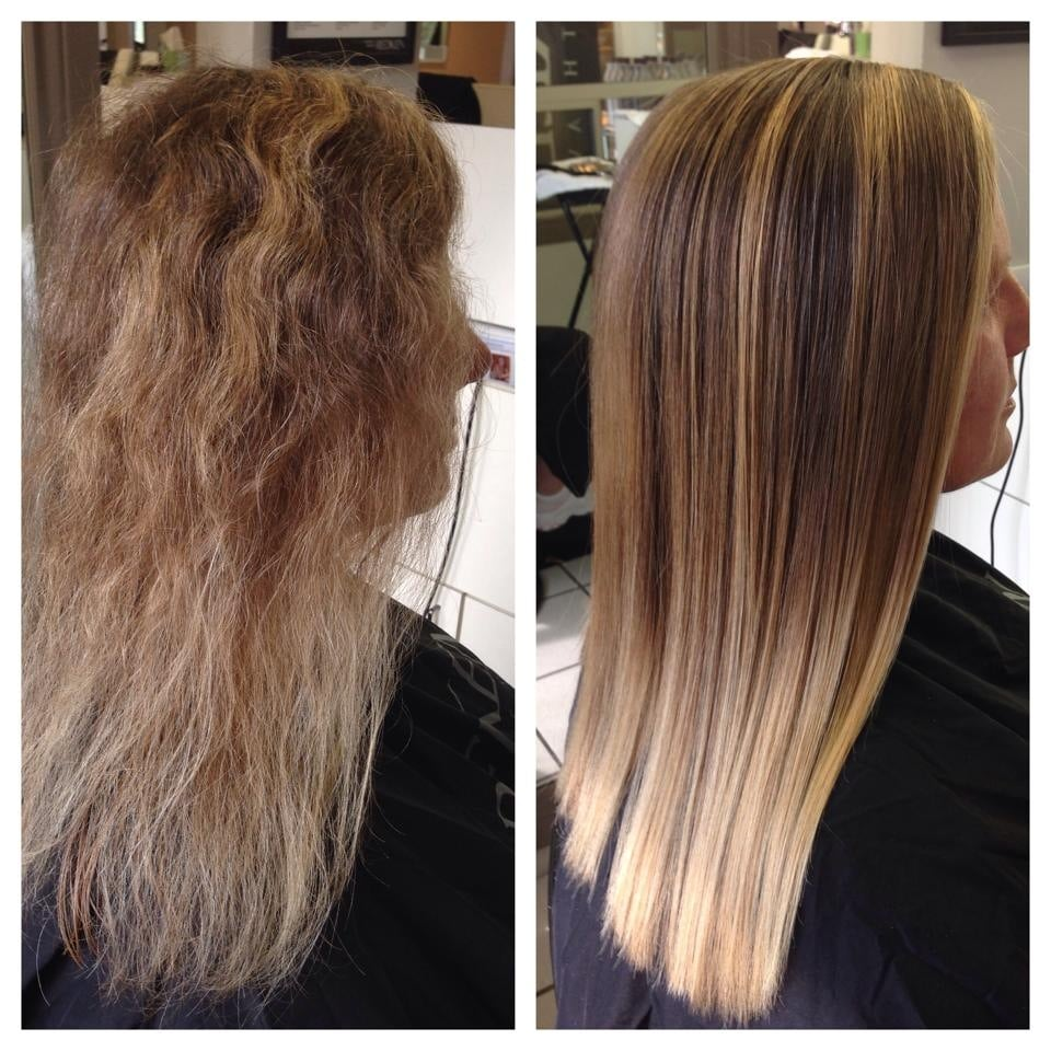 keratin treatment before after