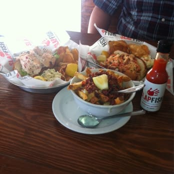 Clobster roll, lobster roll and chowder fries...mmm!