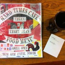 Hard Times Cafe Vegan Menu