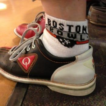Shoe rental includes fabulous souvenir socks that you get to keep