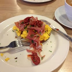 Prosciutto and sun blushed tomatoes with…