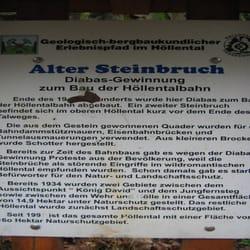 Lehrpfad Geologie und Bergbau Höllental Station 11 Alter, Lichtenberg, Bayern