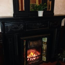 The upstairs open fire at the Welly -…