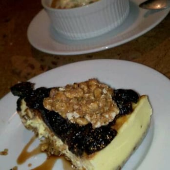 ... cheesecake and cranberry cobbler topped with candied orange ice cream
