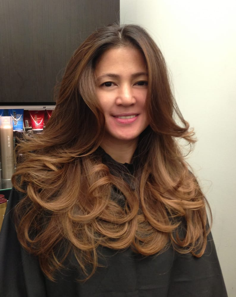... CA, United States. Mocha Ombre on Asian hair.My client Cherry loves it