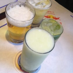 Beer (Chopp), Suco de meláo,  caiprinha and caiprioska de abacaxi (pineapple)