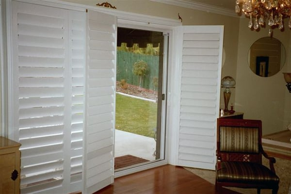 French Door Style Shutters For Sliding Glass Door Yelp
