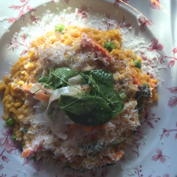 ... Carmelized carrot risotto with English peas and Parmesan was perfect