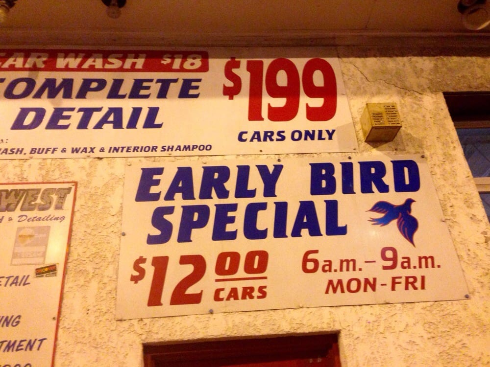 Early Bird Car Wash Special Near Me