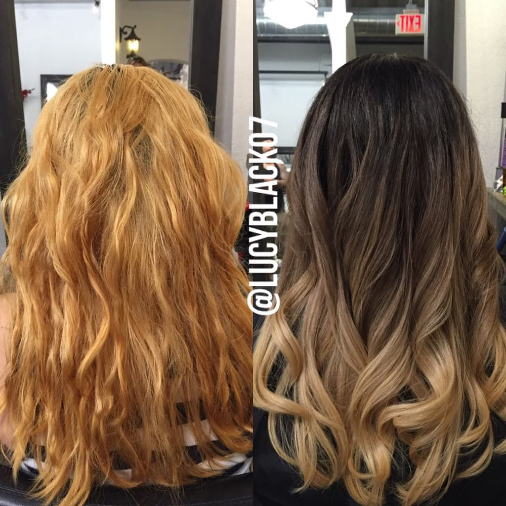 Hair Color Vs Bleach Newhairstylesformen2014 Of Color Over