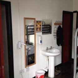 Shower (left door), washbasin and…