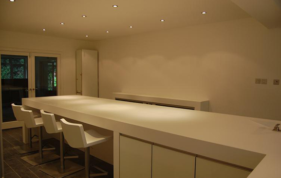 Silestone Worktops 80mm Thick Ideal For Breakfast Bars And