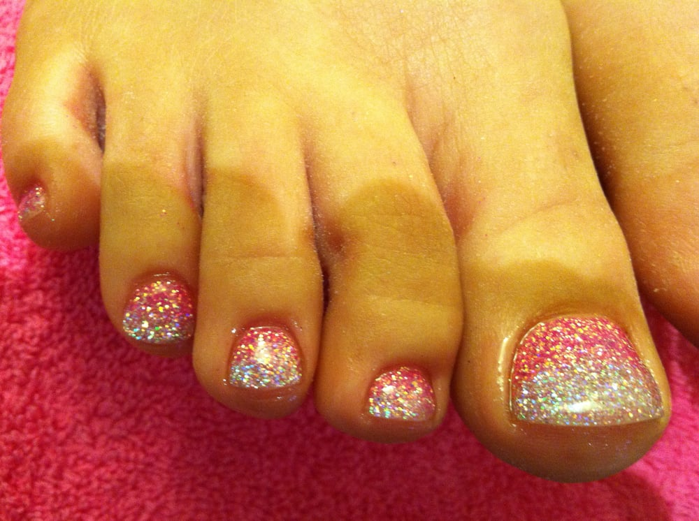 Glitter Toes How to do Glitter Gel Toes