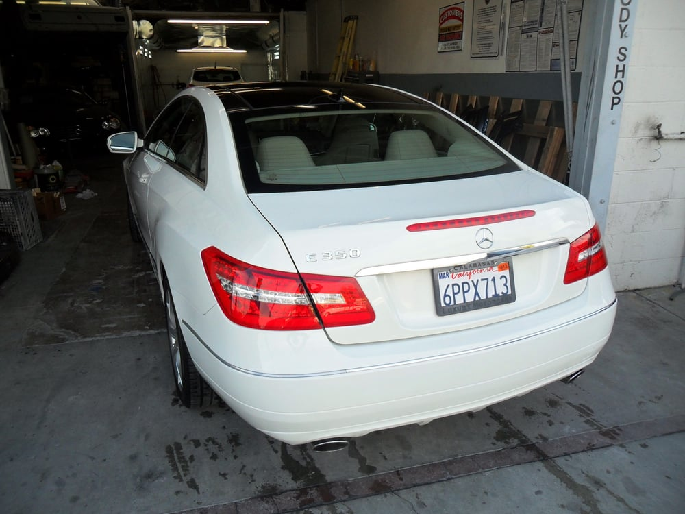 2010 mercedes benz e350 coupe repaired by super auto body for Mercedes benz auto body shop